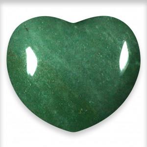 Heart, Aventurine - Green