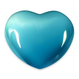Heart, Cat's Eye - Turquoise