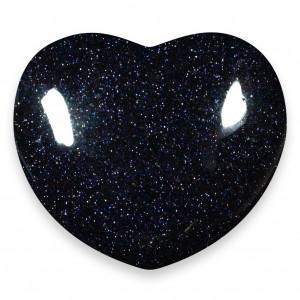 Heart, Goldstone - Blue