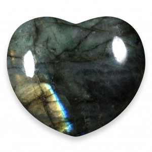 Heart, Calcite - Honey