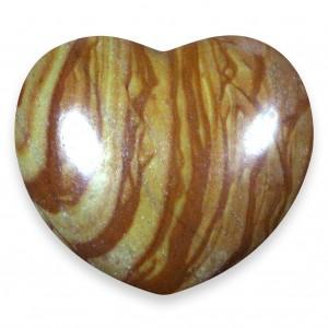 Heart, Jasper - Walnut