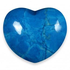Heart, Howlite - Blue