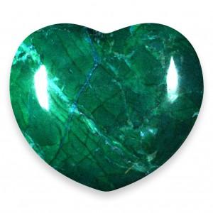 Heart, Howlite - Chrysocolla