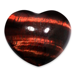 Heart, Tiger Eye - Red